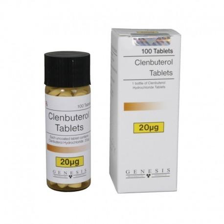 Clorhidrato de Clenbuterol, 20 mcg/ficha (100 tabletas), Génesis