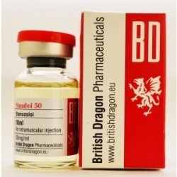 Stanabol 50, (British Dragon) 500 mg / 10 ml